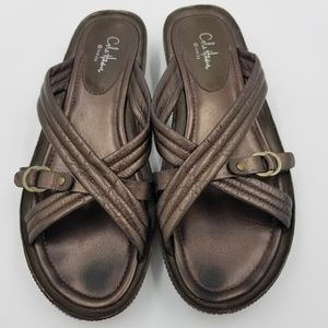 Cole Haan G Series Nike Air Bronze Leather Sandals